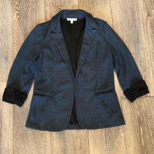 Blazer, blue with black cuffs
